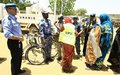 UNAMID hands over equipment to Community Policing Volunteers in Gokar, West Darfur